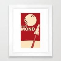 Zum Mond Framed Art Print