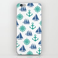 Nautical Pattern iPhone & iPod Skin