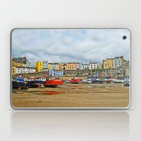 Tenby Harbour . Sunlight. Pembrokeshire. Wales. Laptop & iPad Skin