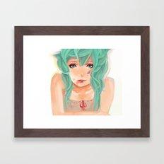 Stare Framed Art Print