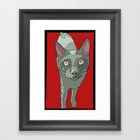 The Curious Cat Framed Art Print
