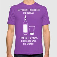 It's Vodka. It Goes Bad … Mens Fitted Tee Ultraviolet SMALL