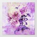 Chrysanthemum on purple Canvas Print
