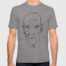 William S. Burroughs Mens Fitted Tee Tri-Grey SMALL