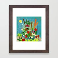 I love Salad Framed Art Print