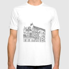 Old Town (Stare Miasto) - Warsaw, Poland Mens Fitted Tee White SMALL