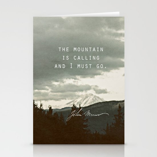 The Mountain is Calling Stationery Card