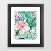 PALE PINK HIBISCUS Framed Art Print
