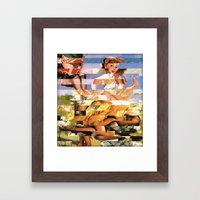 Glitch Pin-Up Redux: Xen… Framed Art Print