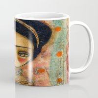 Frida In A Red And Teal Dress Mug