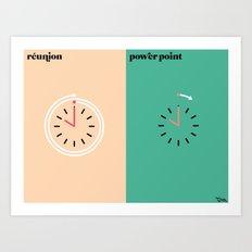 le boulot Art Print