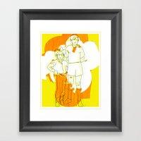 Cowboy  Geek Framed Art Print