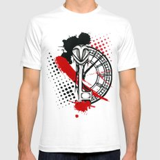 Timekeeper Mens Fitted Tee SMALL White