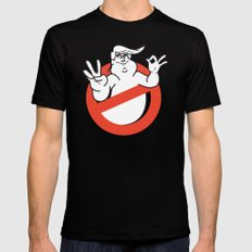 Trumpbusters:He ain't afraid of no ghost Black SMALL Mens Fitted Tee