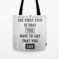 Will Smith Quote - Motiv… Tote Bag