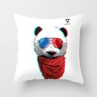 3D Panda Throw Pillow