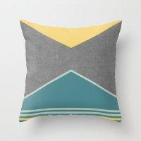 Concrete & Triangles III Throw Pillow