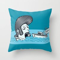 Elvis Eats Boats Throw Pillow