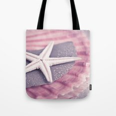 MARITIME STILL LIFE with sea shell and starfish Tote Bag
