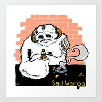 Sad Wampa Art Print