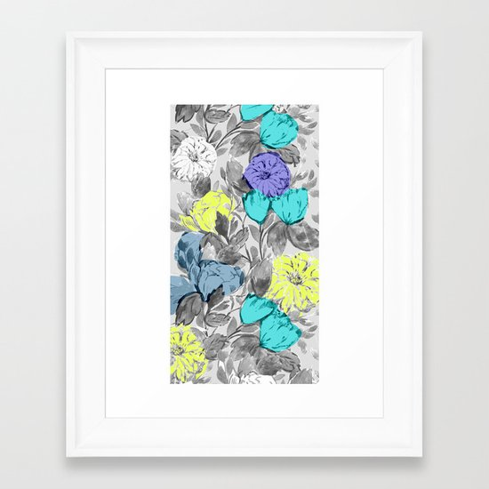 Botanical Flower bright Framed Art Print