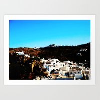 Mykonos village Art Print
