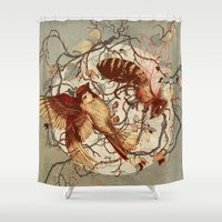 Honey & Sorrow (grey) Shower Curtain