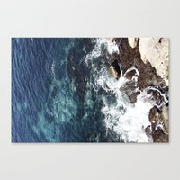 Rock Water Canvas Print