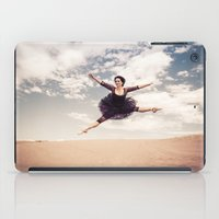 Beautiful Ballet Dancer Leaping Through The Sky Over The Desert  iPad Case