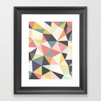 Deco Tris Framed Art Print