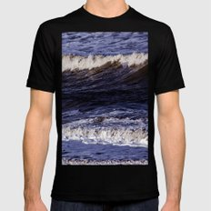 To the sea, to the sea... SMALL Mens Fitted Tee Black