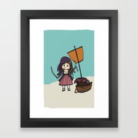 Pirate Hearts Framed Art Print