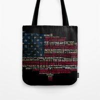 United States Flag Map W… Tote Bag
