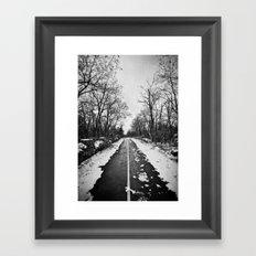 winter Road Framed Art Print