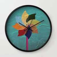 Toy Windmill Wall Clock