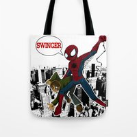 Swinger- A Spiders Story Tote Bag