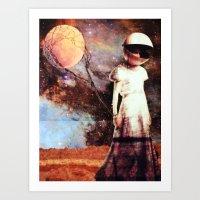 Moon Balloon Art Print