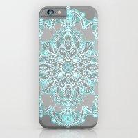 Teal And Aqua Lace Manda… iPhone 6 Slim Case