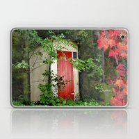 The Red Outhouse Door Laptop & iPad Skin