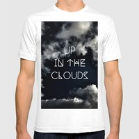 Up in the air Mens Fitted Tee White SMALL