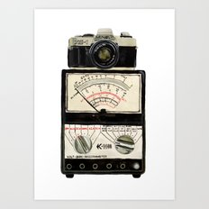 Analogue stack Art Print