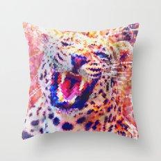 Rainbow Roar Throw Pillow
