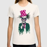 Skully Sam Womens Fitted Tee Natural SMALL