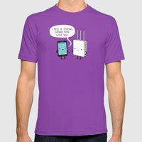 A Strong Connection Mens Fitted Tee Ultraviolet SMALL