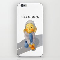 Time To Start. iPhone & iPod Skin