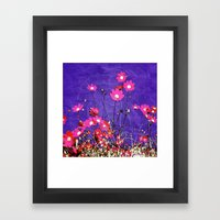Coquetry floral Framed Art Print