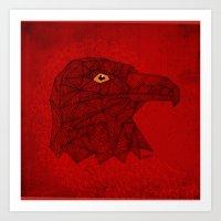 Red Eagle Art Print