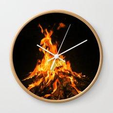 Bonfire (lohri) Wall Clock