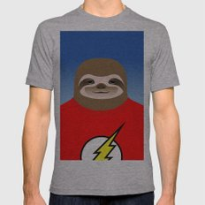 A SLOTH NAMED FLASH Mens Fitted Tee Athletic Grey SMALL