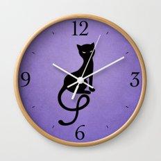 Gracious Evil Black Cat Wall Clock